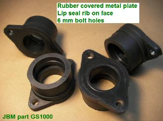 Rubber Flange carburetor holder intake boots and boot sizes & photo
